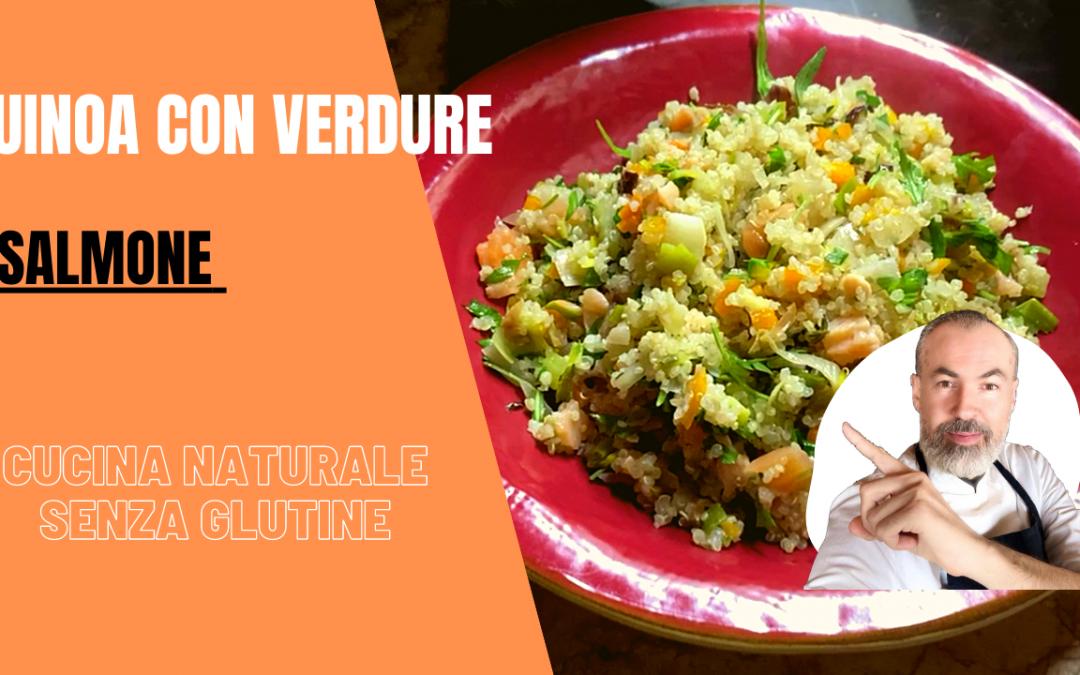 Quinoa con verdure e salmone
